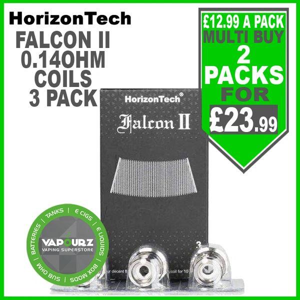 Horizontech Falcon 2 Sector Mesh Coils 0.14ohm 3 Pack