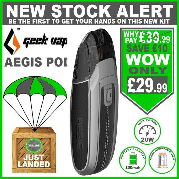 Geekvape AEGIS POD Silver Chafer