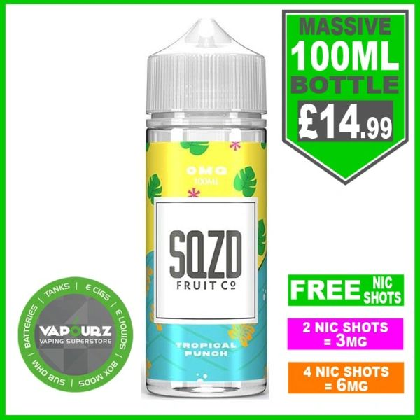 SQZD Tropical Punch 100ml
