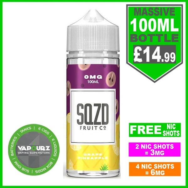 SQZD Grape Pineapple 100ml