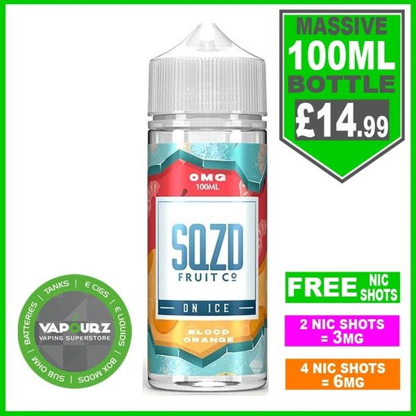 SQZD Blood Orange on ice 100ml