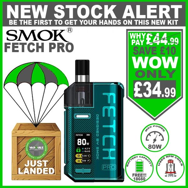 SMOK Fetch Pro Kit Green with FREE!!! 18650 Battery