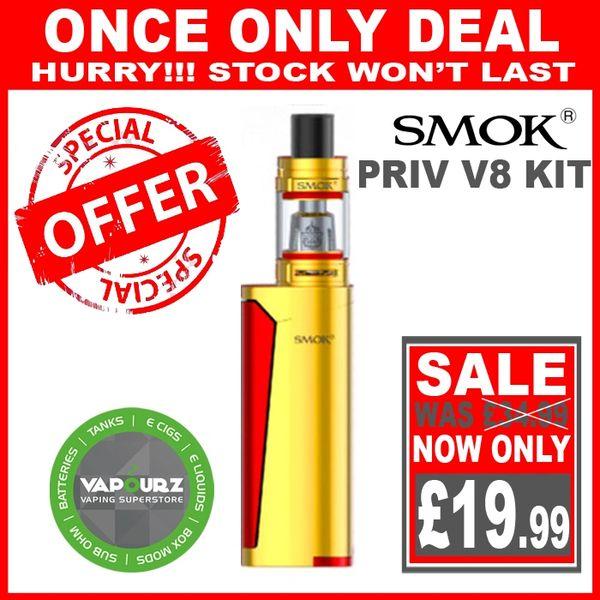 SMOK PRIV V8 KIT Gold Red