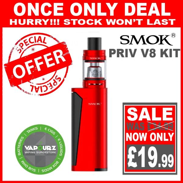 SMOK PRIV V8 KIT Red Black