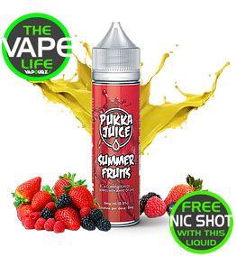 Pukka Juice Summer Fruits free 10ml nic shot
