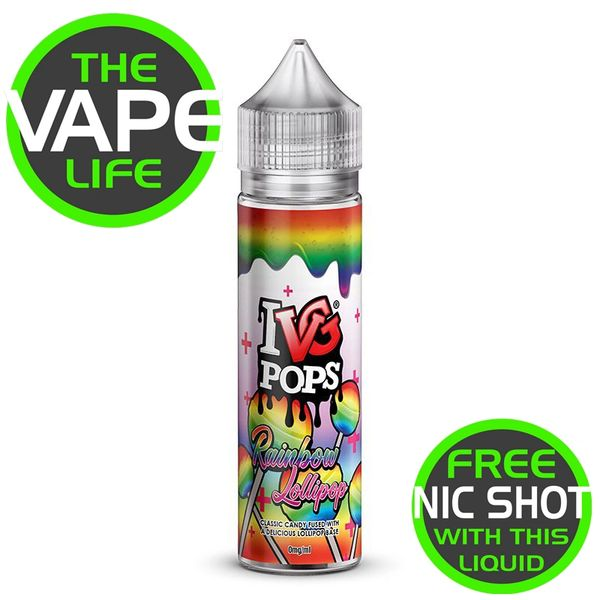 IVG Pops Rainbow Lollipop + Nic Shot