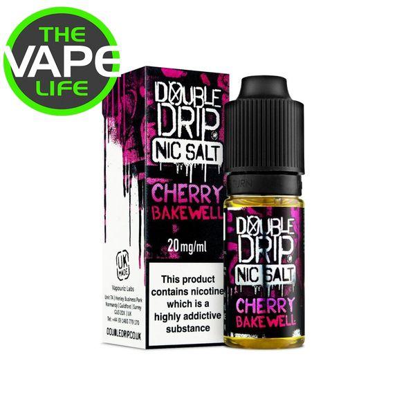Double Drip Cherry Bakewell Nic Salt 10ml x 3