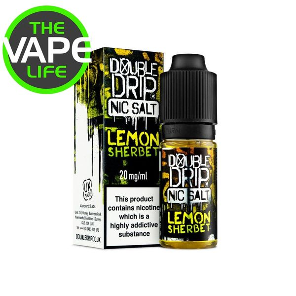 Double Drip Lemon Sherbet Nic Salt 10ml x 3