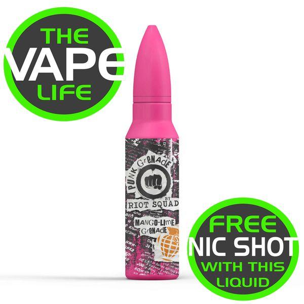 Riot Squad Punk Grenade Mango-Lime Grenade 50ml + nic shot