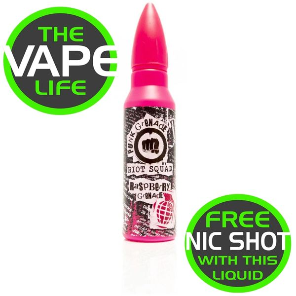 Riot Squad Punk Grenade Raspberry Grenade50ml + nic shot