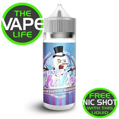 Dr Frost Frosty Shakes Blue Raspberry Milkshake 100ml + 2 nic shots