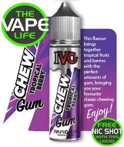 IVG Chews Tropical Berry 50ml + 10ml Nic Shot
