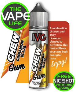 IVG Chews Cinnamon Blaze 50ml +10ml Nic Shot