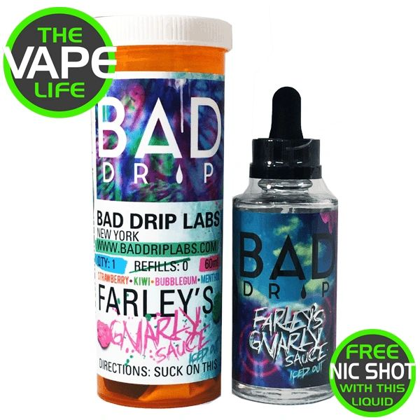 Bad Drip Farleys Gnarley Sause Iced Out 50ml + Nic Shot