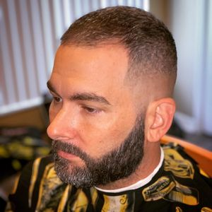 Mobile Master Barber fade with beard