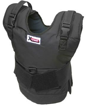 X2012 - The X2012 Xvest comes with 12 one pound weights. The X2012 can hold up to 20 pounds of weight.