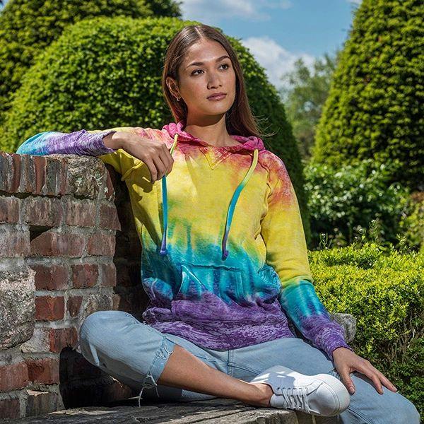 Rainbow Notch-Stitch Sweatshirt