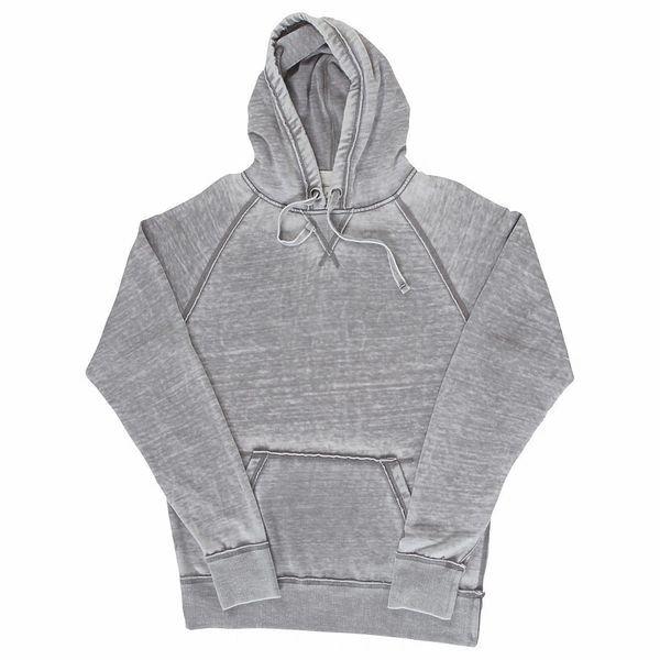 Vintage Zen Pullover Hoodie- Cement Color (Silver)