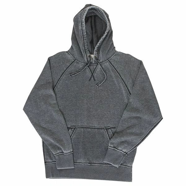 Vintage Zen Pullover Hoodie- Smoke Color (Dark Gray)