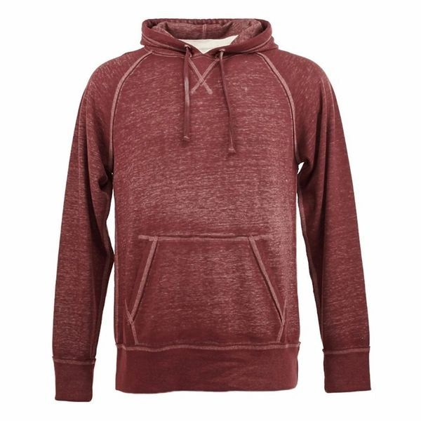 Vintage Zen Pullover Hoodie- Bordeaux Color (Burgundy)