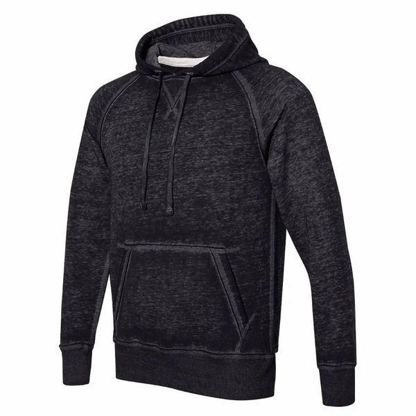 Vintage Zen Pullover Hoodie- Black Color