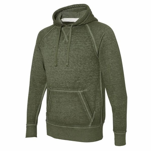 Vintage Zen Pullover Hoodie- Olive Color (Army Green)
