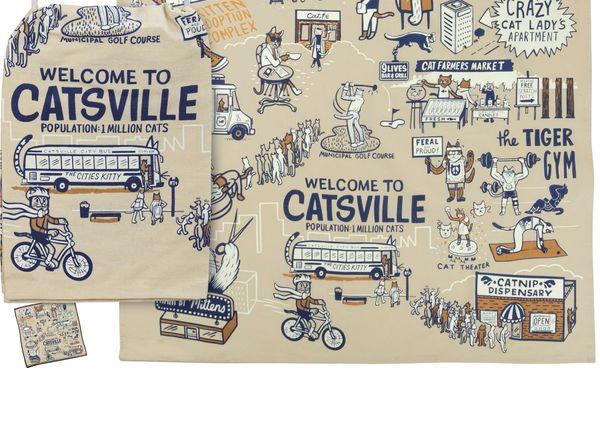 Catsville Dish Towel