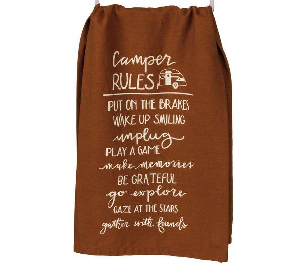 Camper Rules Dish Towel