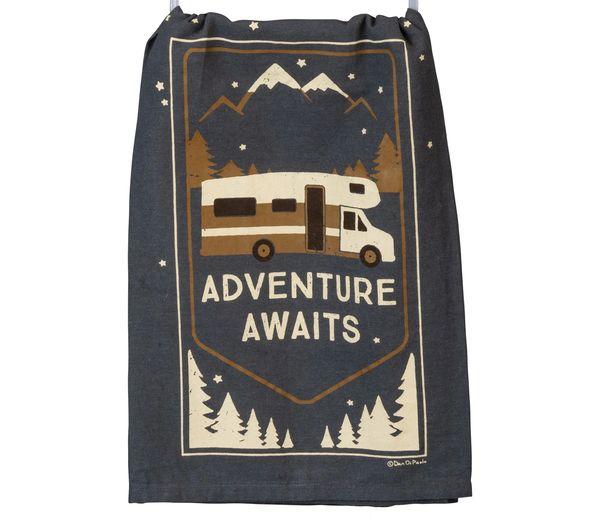 Adventure Awaits Dish Towel