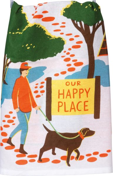 Our Happy Place Dish Towel