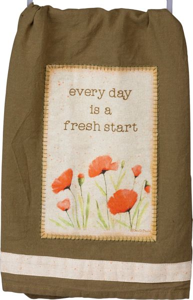 Every day is a fresh start Dish Towel