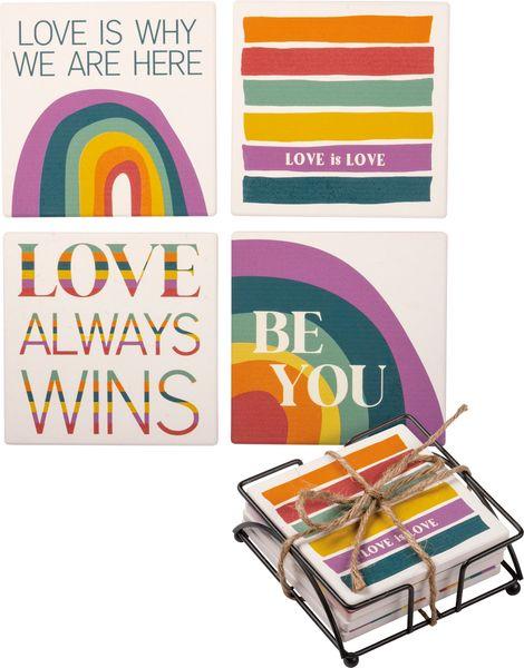 Love is Love Coaster Set (4)