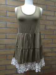 B5479 - Tank Dress with Lace Bottom Trim