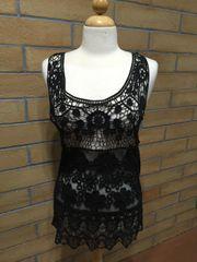 130733 - Black Crochet Tank