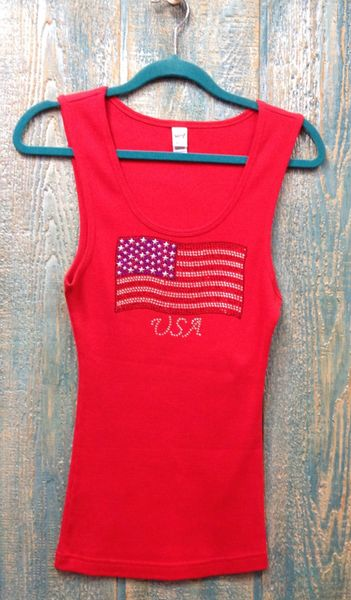 78147- Red USA American Flag Tank