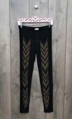 14219P - Black Legging w/ Bronze Embellishment
