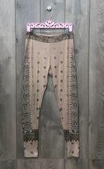14341P - Tan Legging W/ Embellishment Design
