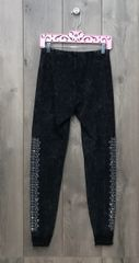 13306P - Charcoal Grey Legging w/Ankle Lace Trim