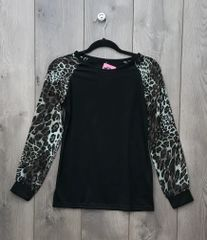 LEP001 - Black & Leopard Long Sleeve