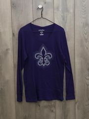 5008 -Purple Long Sleeve w/ Embellishment