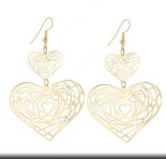 EAR01 Gold and Silver Heart Earring