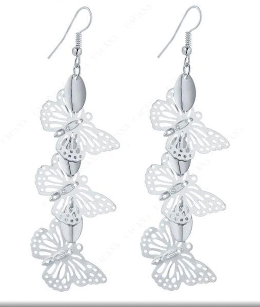 EAR185- Dangle Earrings Flying Butterflys Top Quality
