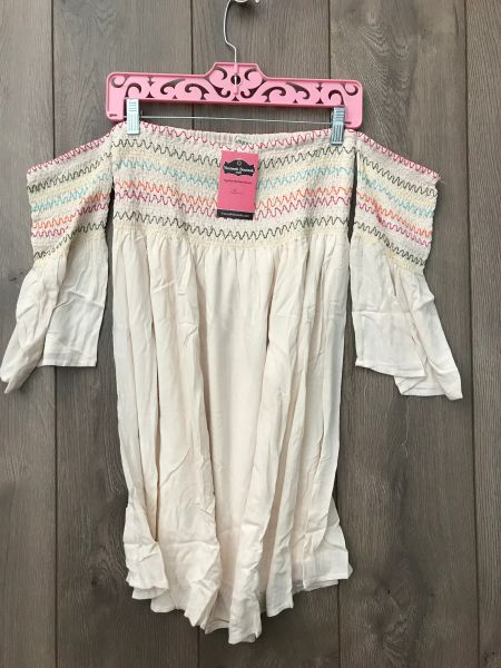 Off The Shoulder Creme Tunic With Bell Sleeve