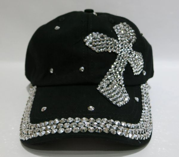 Adjustable Embellished Baseball Cap - Style 3
