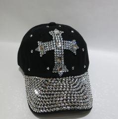 Adjustable Embellished Baseball Cap - Style 4