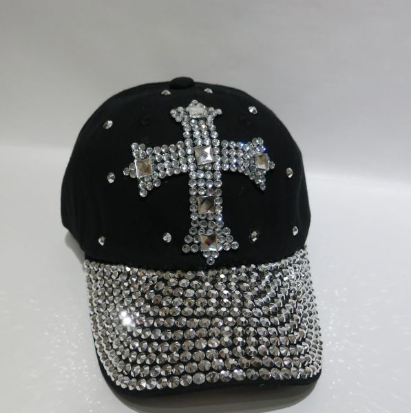 Adjustable Embellished Baseball Cap - Style 4