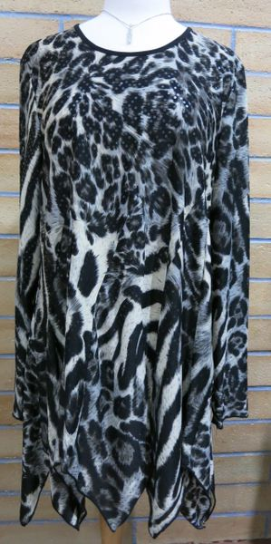 1107 - Zebra Tunic with Sequins