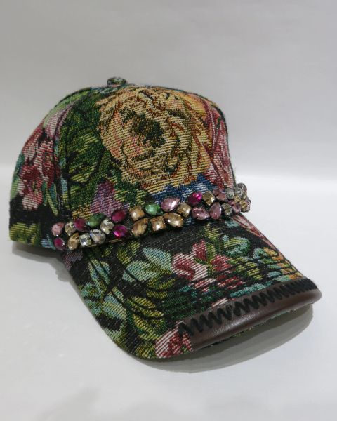 Adjustable Embellished Baseball Cap - Style 5