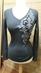 7214LV - Long Sleeve Thermal with fleur de lis