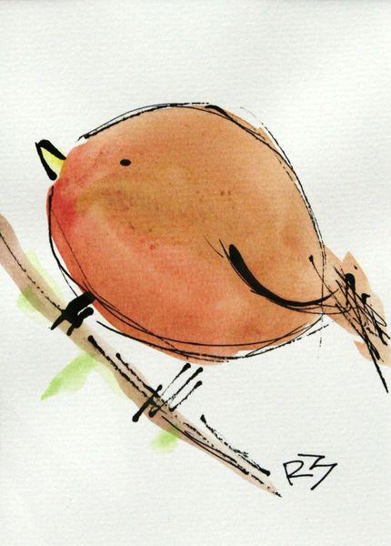 Watercolor Bird #498
